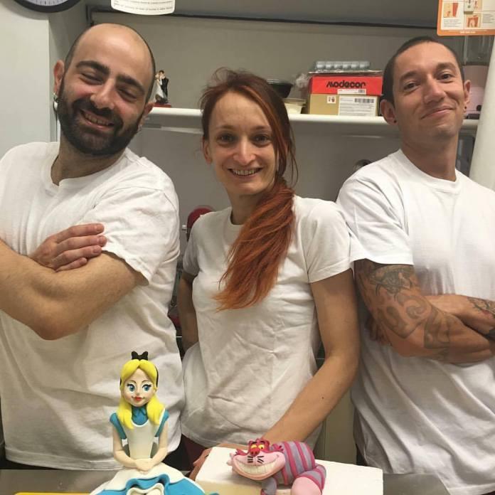Giada e i suoi collaboratori de Le torte di Giada, foto da Facebook