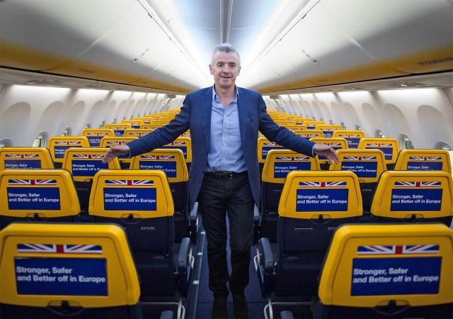 Il patron di Ryanair Michael Oleary