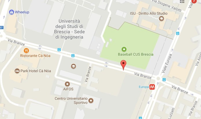 Via Branze, a Brescia - foto da Google Maps