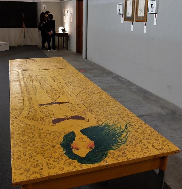 Tra me e lei: a Cologne una mostra frutto dell'incontro fra le artiste Elisa Dama e Ilaria Dell'Aversana, in arte Ilaria Grin, foto Enrica Recalcati, www.bsnews.it