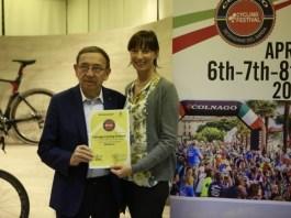 Nella foto allegata a partire da sinistra : Francesca Cerini di Desenzano del Garda ed Ernesto Colnago, www.bsnews.it
