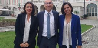 Da sinistra Claudia Gabana (brand manager), Fabrizio Scuri (ad) e Daniela Grandi (presidente) del Gruppo Gabeca di Montichiari, www.bsnews.it