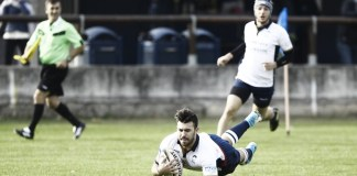 La realizzazione di una delle sette mete che hanno permesso al Rugby Brescia di battere Milano - foto da ufficio stampa