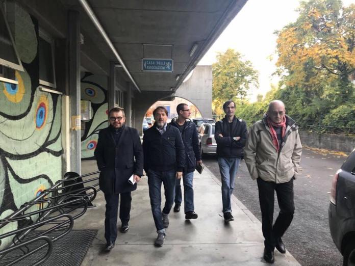 Il leghisti Rolfi e Tacconi in visita alla Torre Cimabue di San Polo a Brescia