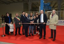 L'inaugurazione del nuovo stabilimento Tavina a Salò
