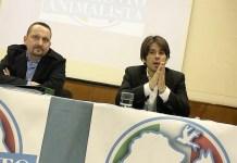 Cristian Raggi e Daniele Lazzaroni del Movimento animalista bresciano