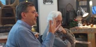 Marcello Zane e Carlo Simoni allo showroom 39Vantini