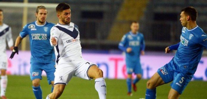 Un'azione di Brescia-Empoli, foto da sito ufficiale Brescia Calcio