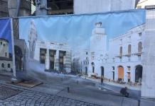 L'immagine del Bigio in Corso Garibaldi a Brescia