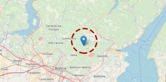 Un terremoto ha colpito questa mattina il territorio di Caino, in provincia di Brescia