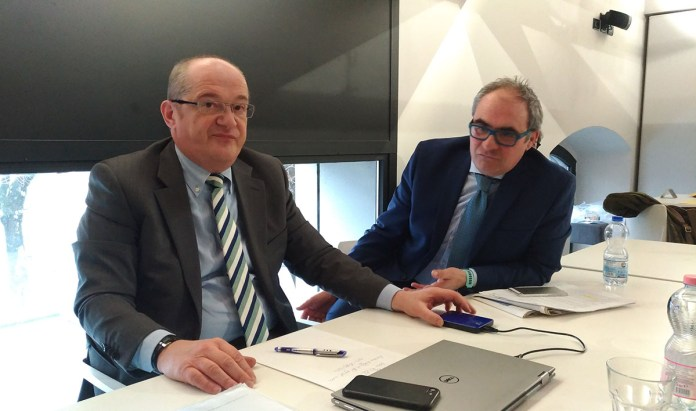 Aurelio Bizioli e Giorgio Paris del Comitato Soci Valsabbina