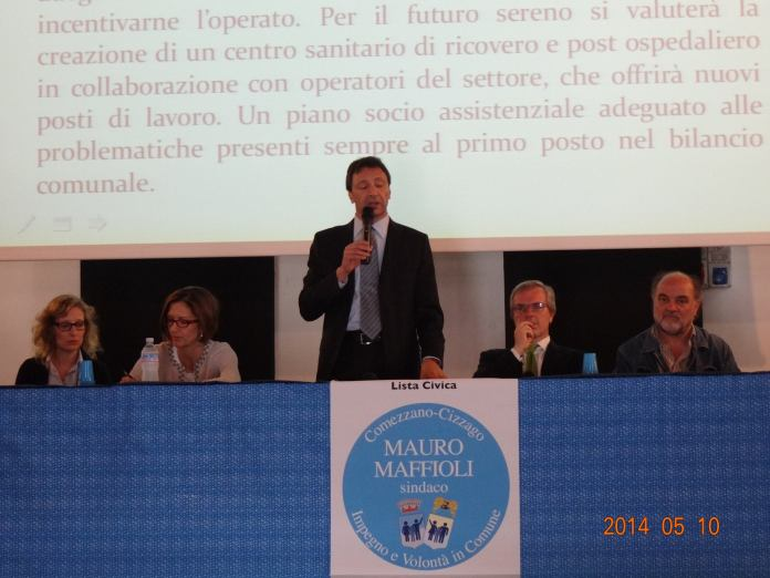 Il sindaco di Comezzano Cizzago Mauro Maffioli