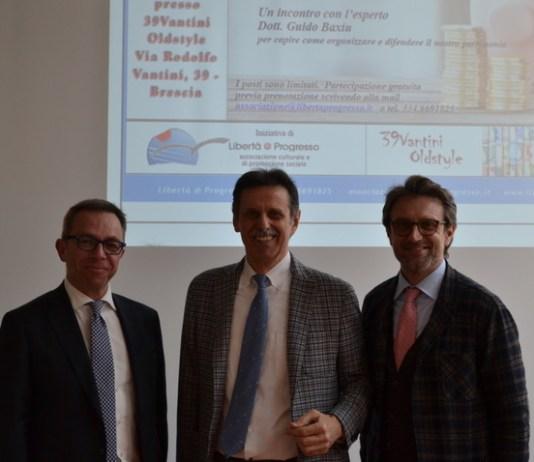 DA SINISTRA IN FOTO: Guido Baxiu, Angelo Piovanelli e Alberto Cella