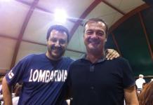 Danilo Oscar Lancini di Adro con il segretario della Lega Matteo Salvini
