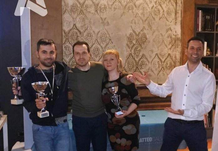 Mara Bescianini con gli altri vincitori della gara - Foto da Facebook, Action Agency