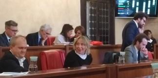 Paola Vilardi in consiglio comunale, foto Andrea Tortelli per BsNews.it