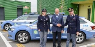 Brebemi consegna altre due auto alla Polizia stradale, foto da ufficio stampa