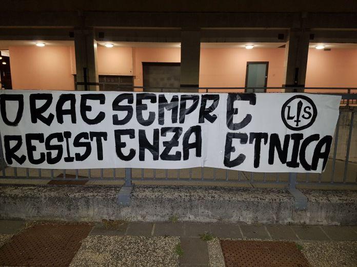 Uno dei manifesti dell'estrema destra di Lotta Studentesca contro il 25 aprile
