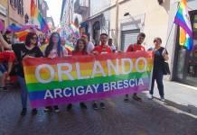 Una manifestazione dell'Arcigay Orlando di Brescia