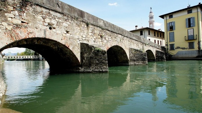 Il ponte romano di 'Palazzolo sull'Oglio, in provincia di Brescia