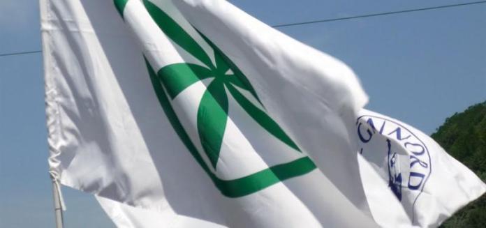 Una bandiera della Lega