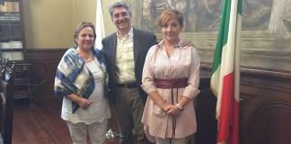 Il Sindaco Emilio Del Bono ha incontrato in palazzo Loggia la signora Brunilda Rebolledo sindaco (intendente) di San Martin de los Andes