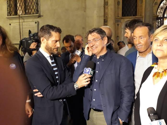 Del Bono intervistato da LA7, foto BsNews.it