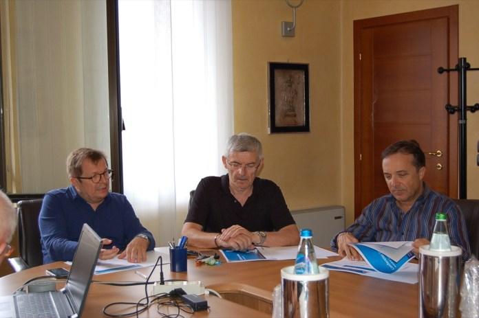 Malinverno, Bocchio e Faini durante la conferenza stampa