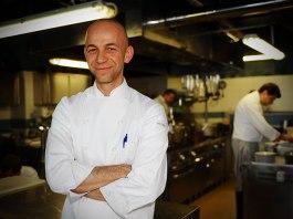 Lo chef Riccardo Camanini del Ristorante Lido 84 di Gardone Riviera