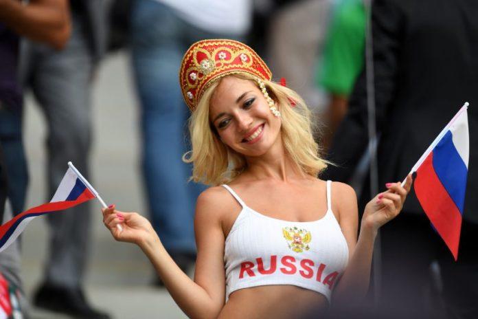 Una avvenente tifosa ai mondiali di calcio