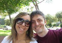 Manuela Bailo con l'ex convivente Matteo Sandri, foto da Facebook