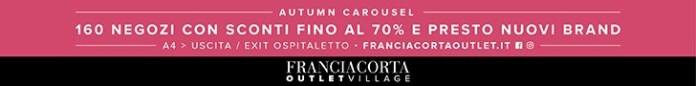 OUTLET FRANCIACORTA (06.07.2018 - 31.12.2018)