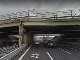 Il cavalcavia dell'autostrada A4 oggetto di verifiche
