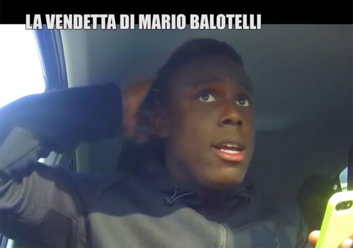 Enock Balotelli, fratello di Mario Balotelli, durante lo scherzo andato in onda su Italia 1