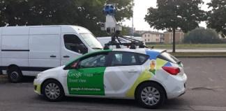 La Google street car avvistata a San Polo, foto Andrea Tortelli per BsNews.it