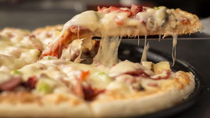 Un trancio di pizza