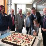 Un momento dell'inaugurazione del centro commerciale Nuovo Flaminia di Brescia