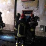 Intervento dei Vigili del fuoco a Cevo, in Valcamonica