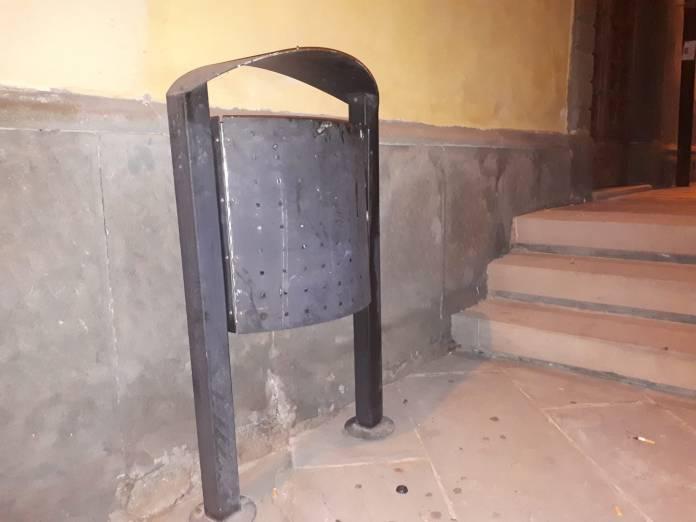 I cestini portarifiuti acquistati dal Comune di Rovato