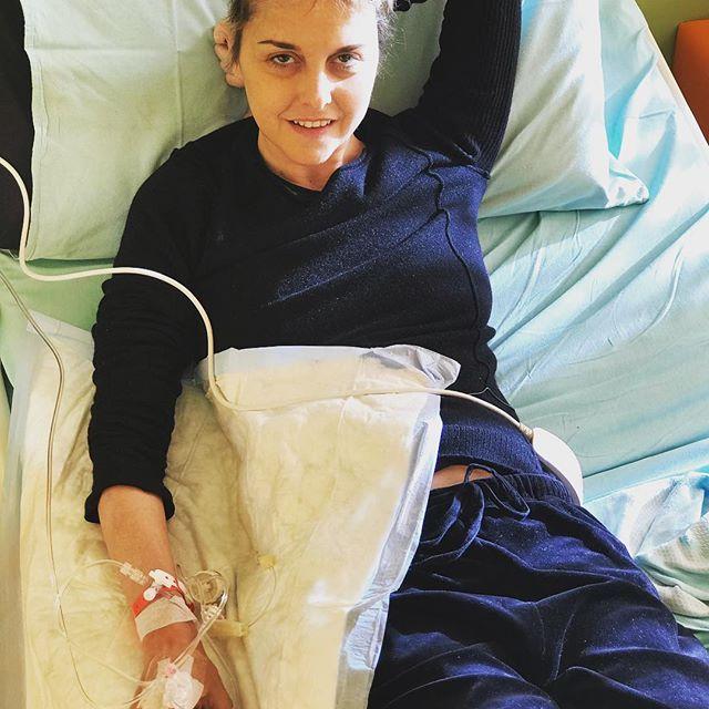 Nadia Toffa all'ospedale San Raffaele di Milano, foto Instagram