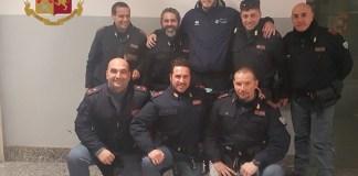 Gli agenti della Polizia con Ceron
