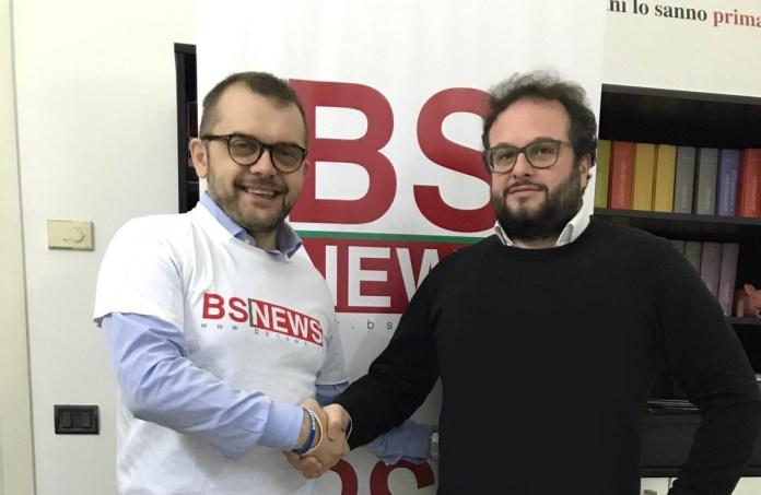 L'assessore regionale Fabio Rolfi con il direttore di BsNewss Andrea Tortelli