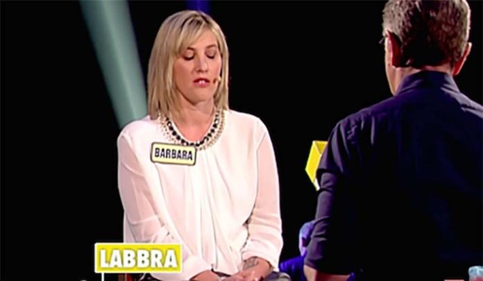Barbara Zani di Rudiano con Paolo Bonolis nella trasmissione Avanti un altro