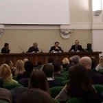 Il tavolo dei relatori al centro Paolo VI di Brescia