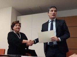 Mariuccia Ambrosini e Matteo De Maio, direttore Btl, foto Andrea Tortelli per BsNews.it
