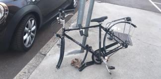 La bicicletta abbandonata - foto da Facebook