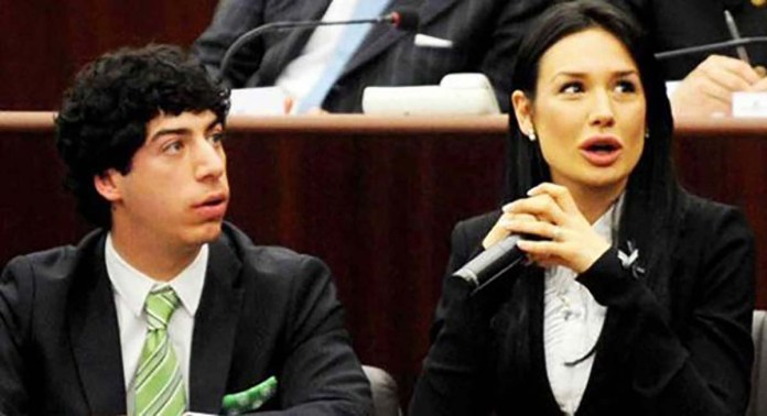 Renzo Bossi, eletto a Brescia, e Nicole Minetti