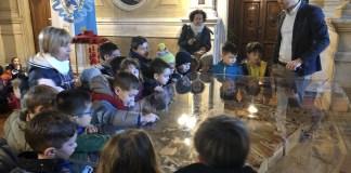 Gli alunni della Scuola dell'Infanzia S. Maria della Vittoria, accompagnati dalle insegnanti, si sono recati a Palazzo della Loggia