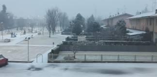 Nevicata in provincia di Brescia, foto BsNews