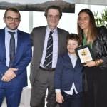 La chef Sara Scalvini con il presidente della Regione Attilio Fontana e l'assessore Fabio Rolfi